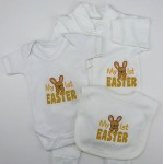 My 1st Easter Embroidered Baby Set Bib,Vest & Grow