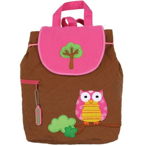 Owl Tree Personalised Stephen Joseph Quilted Backpack