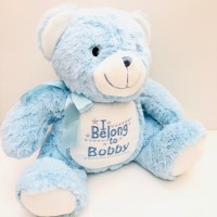 TEDDY BEAR PERSONALISED BLUE MUMBLES