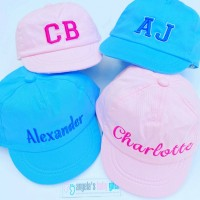 PERSONALISED EMBROIDERED BABY / TODDLER CAP