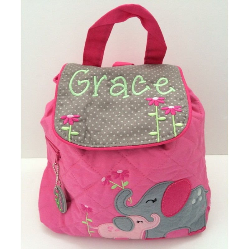 Angel Baby Gifts Uk : Elephant personalised stephen joseph quilted backpack