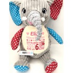 ELEPHANT PERSONALISED HARLEQUIN CUBBY
