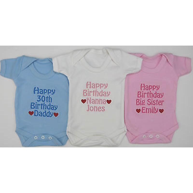 Personalised Happy Birthday Daddy Mummy Nanny Grandad Sister