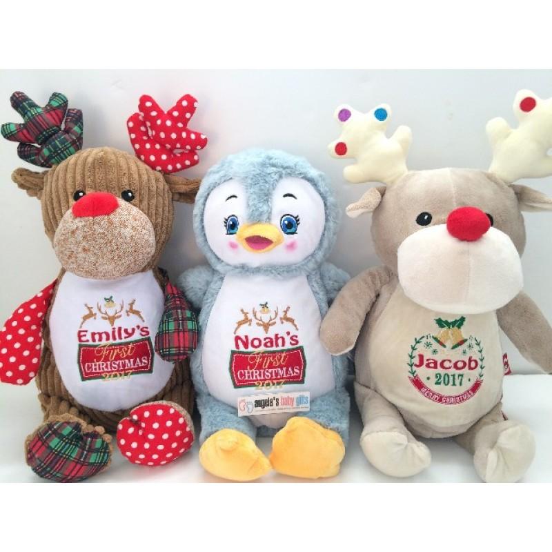 Angel Baby Gifts Uk : Christmas cubbies personalised reindeer penguin cubby