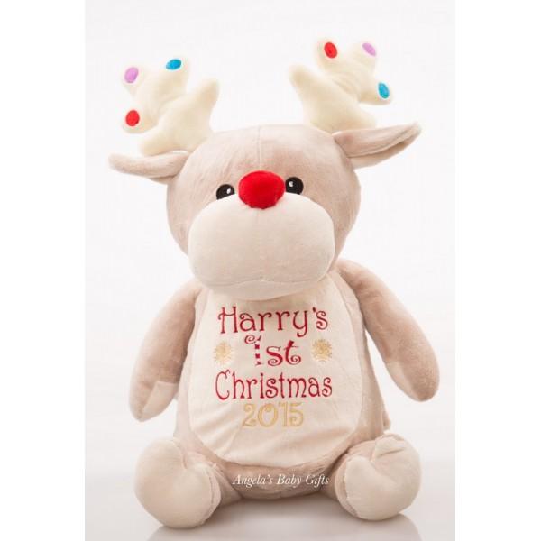 Angel Baby Gifts Uk : Bauble personalised st christmas reindeer teddy cubby
