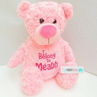 PINK PERSONALISED ROSE SWIRL TUMMI BEAR