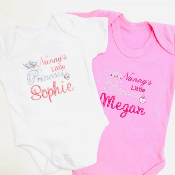 NANNY'S LITTLE PRINCE / PRINCESS PERSONALISED BABY VEST