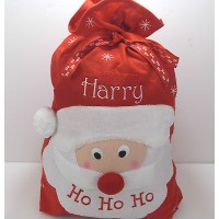 PERSONALISED SANTA HO HO HO CHRISTMAS SACK