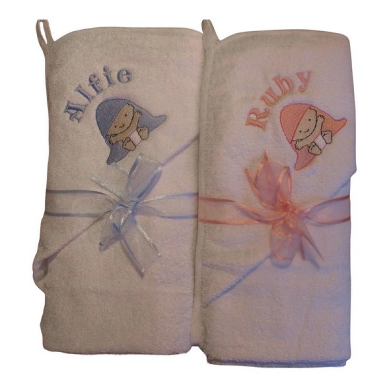Angel Baby Gifts Uk : Hood design personalised baby hooded towel